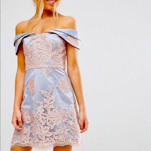 ASOS Chi Chi London Premium Lace Bardot Dress